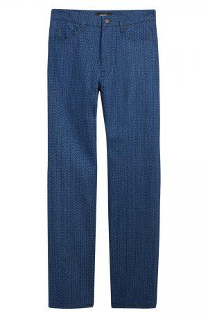 Men's Fendi Laser Wash Straight Leg Jeans, Size 30 - Blue