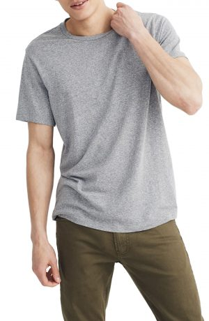 Men's Madewell Garment Dyed Allday Crewneck T-Shirt, Size X-Small - Grey