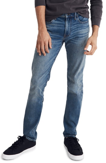 Men's Madewell Slim Fit Jeans, Size 34 x 32 - Blue