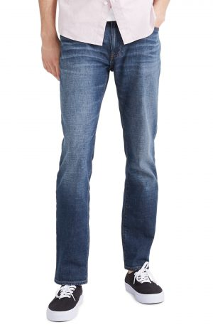Men's Madewell Straight Everyday Flex Jeans, Size 31 x 32 - Blue