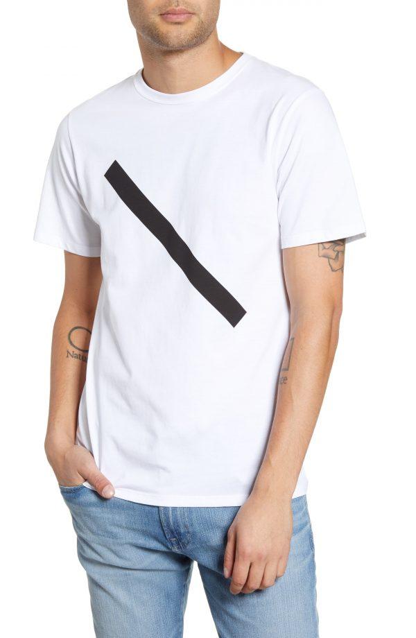 Men's Saturdays Nyc Slash Graphic T-Shirt, Size Small - White