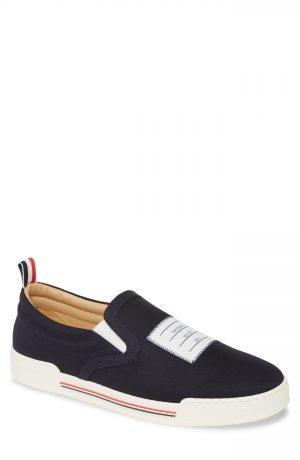 Men's Thom Browne Slip-On Sneaker, Size 7 M - Blue