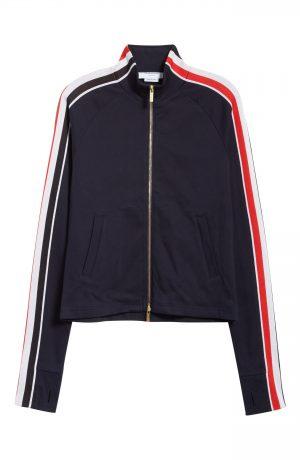 Men's Thom Browne Stripe Detail Track Jacket, Size 1 - Blue