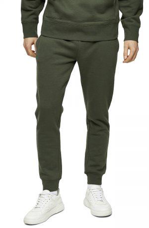 Men's Topman Dry Handle Skinny Fit Jogger Pants, Size X-Large - Green