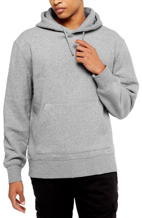 Men's Topman Hoodie, Size XX-Large - Grey