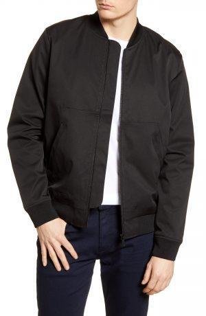 Men's Topman Icon Classic Bomber Jacket, Size Medium - Black