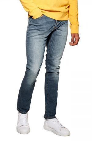 Men's Topman Rainer Slim Fit Jeans, Size 30 x 32 - Blue