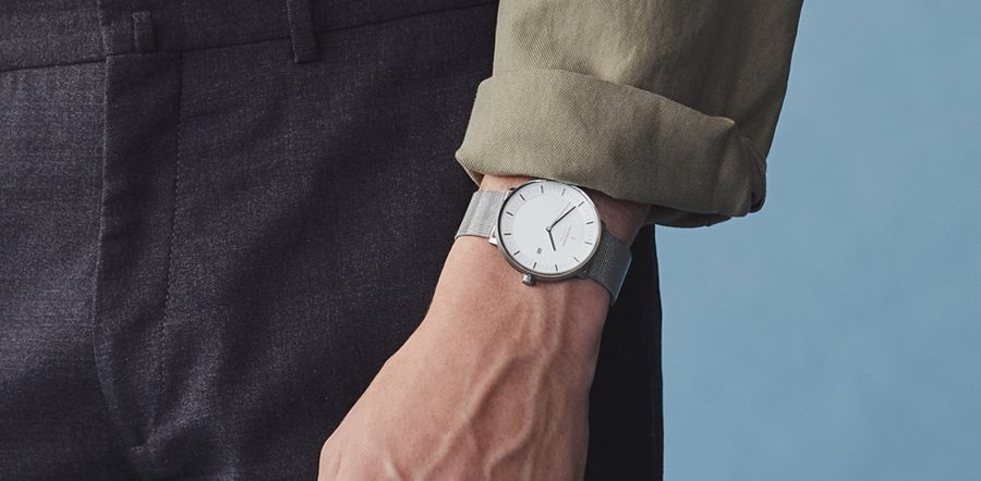 Nordgreen Philosopher Watch with Silver Mesh Wrist
