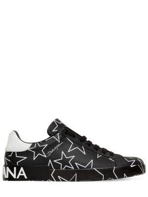 Portofino Stars Leather Sneakers