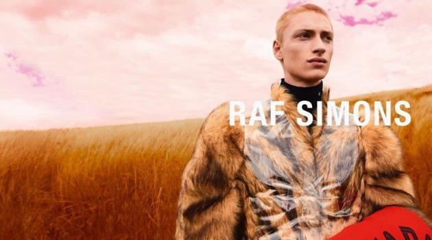 Lennert De Lathauwer fronts Raf Simons' fall-winter 2020 campaign.