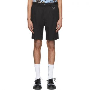 Saturdays NYC Black Lyocell Martin Shorts