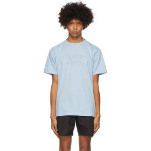 Saturdays NYC Blue Miller Black T-Shirt