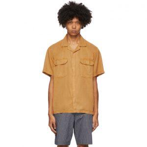 Saturdays NYC Orange Gibson Double Pocket Shirt