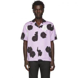 Saturdays NYC Purple Canty Moon Flower Shirt