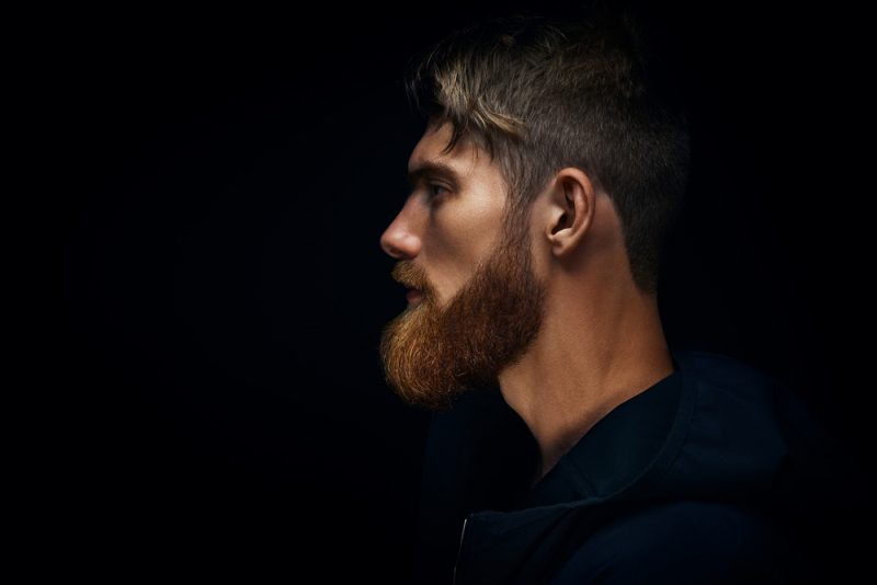Side Profile Dramatic Man Beard