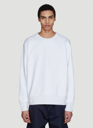 Thom Browne Stripe Sweatshirt in White size JPN - 1