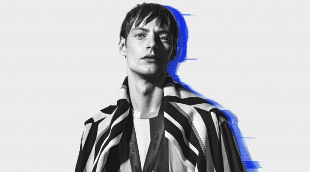 Making a case for stripes, Roberto Sipo showcases styles from Antony Morato.