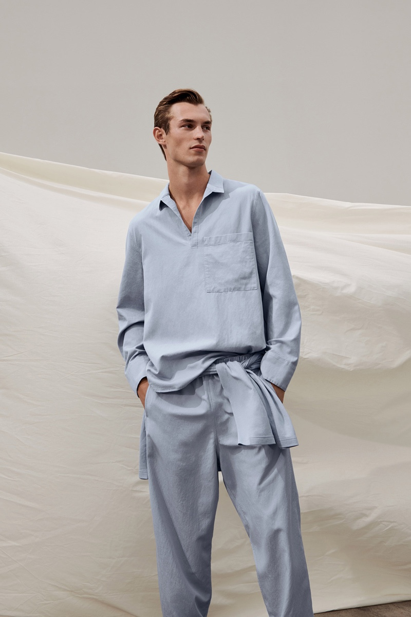 Summer is in the air as Kit Butler wears a comfortable, relaxed look from COS.