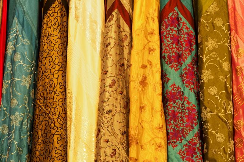 Closeup Indian Textile