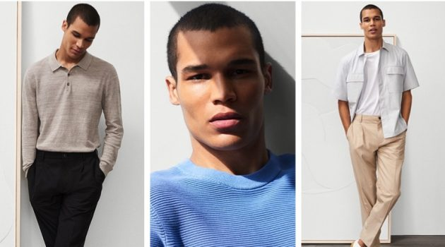 Model Terrence Moore sports chic looks from Club Monaco.