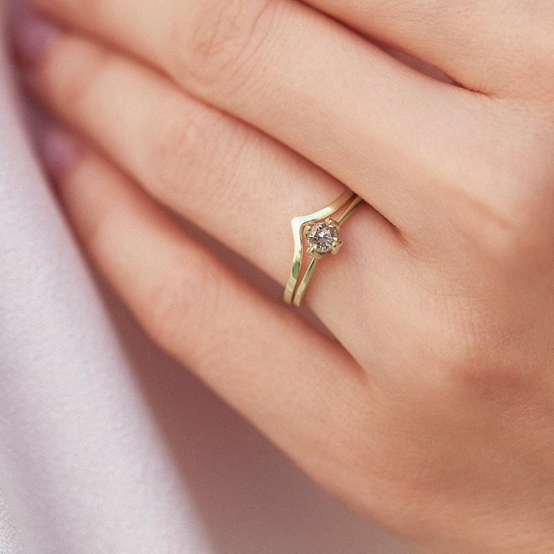 Diamond Ring Closeup Hand