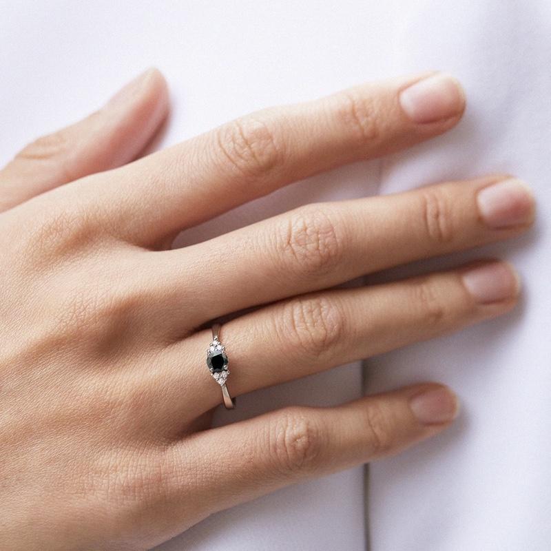 Black Diamond Ring Hand