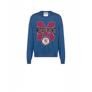Cotton Pullover With Patch Logo