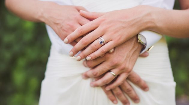Couple Hands Rings Married