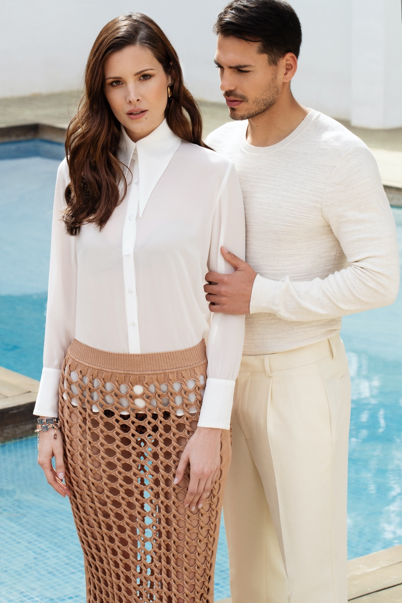 Cristian Relaxes Poolside with Grazia Pakistan