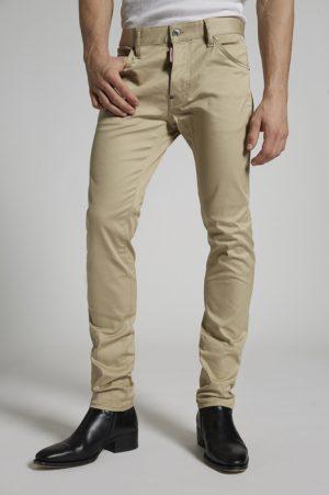 DSQUARED2 Men 5 pockets Beige Size 26 97% Cotton 3% Elastane
