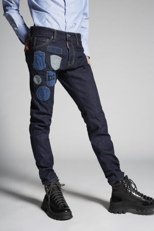 DSQUARED2 Men 5 pockets Blue Size 38 100% Cotton