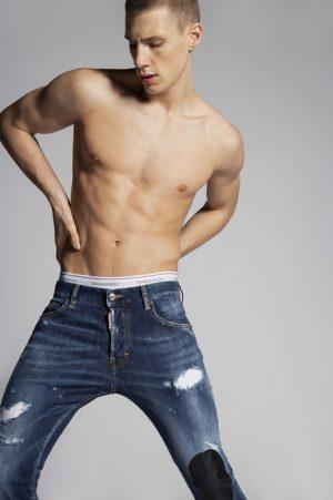DSQUARED2 Men 5 pockets Blue Size 40 92% Cotton 6% Elastomultiester 2% Elastane