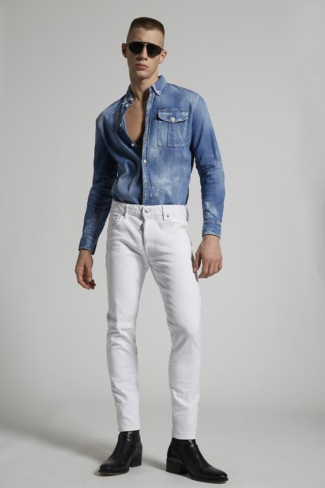 DSQUARED2 Men 5 pockets White Size 36 98% Cotton 2% Elastane