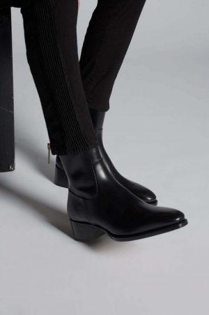 DSQUARED2 Men Ankle boot Black Size 12 100% Calfskin