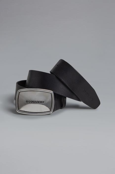 DSQUARED2 Men Belt Black Size 34 100% Bovine leather Zama