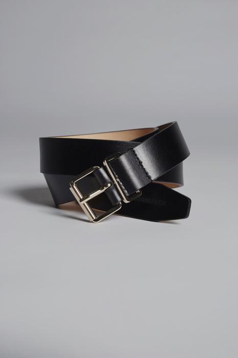 DSQUARED2 Men Belt Black Size 34 100% Calfskin Brass