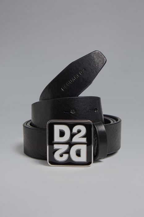 DSQUARED2 Men Belt Black Size 36 100% Zama Bovine leather