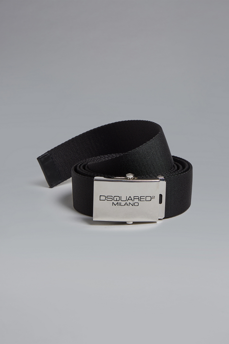 DSQUARED2 Men Belt Black Size OneSize 60% Cotton 40% Polyester