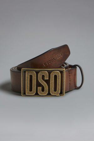 DSQUARED2 Men Belt Brown Size 36 100% Bovine leather Zama