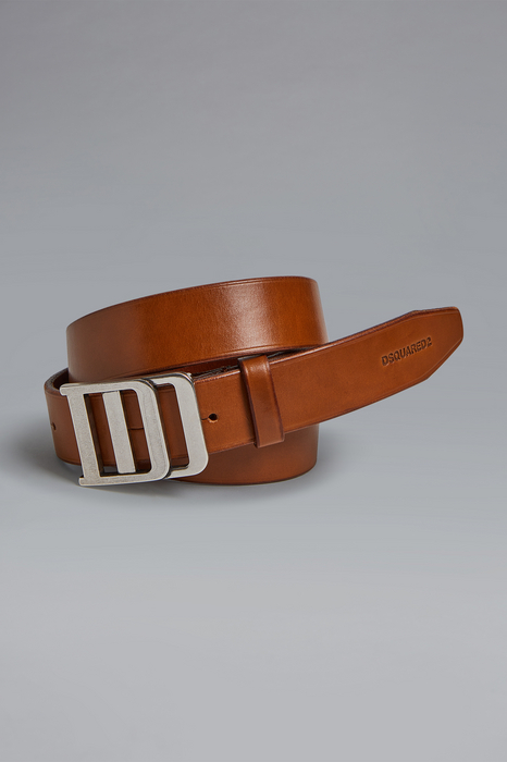 DSQUARED2 Men Belt Brown Size 38 100% Bovine leather