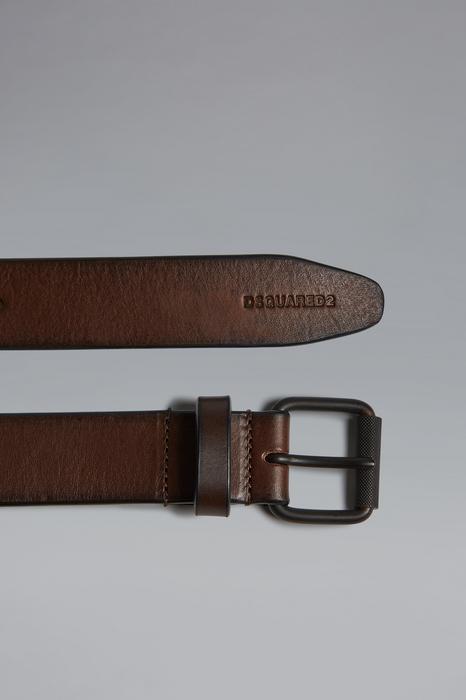 DSQUARED2 Men Belt Brown Size 38 100% Zama Bovine leather