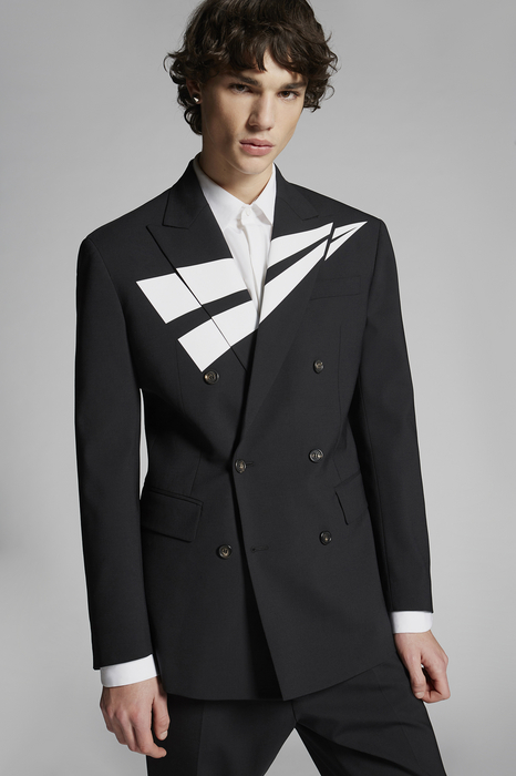 DSQUARED2 Men Blazer Black Size 36 95% Virgin Wool 5% Elastane