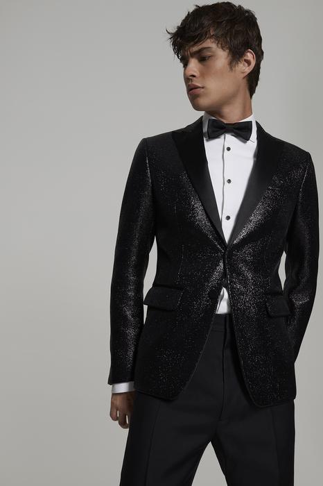 DSQUARED2 Men Blazer Black Size 38 100% Polyamide Silk