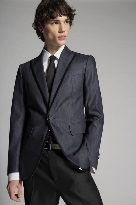 DSQUARED2 Men Blazer Blue Size 46 100% Cotton