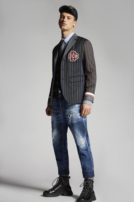 DSQUARED2 Men Blazer Dark blue Size 38 60% Wool 40% Cotton