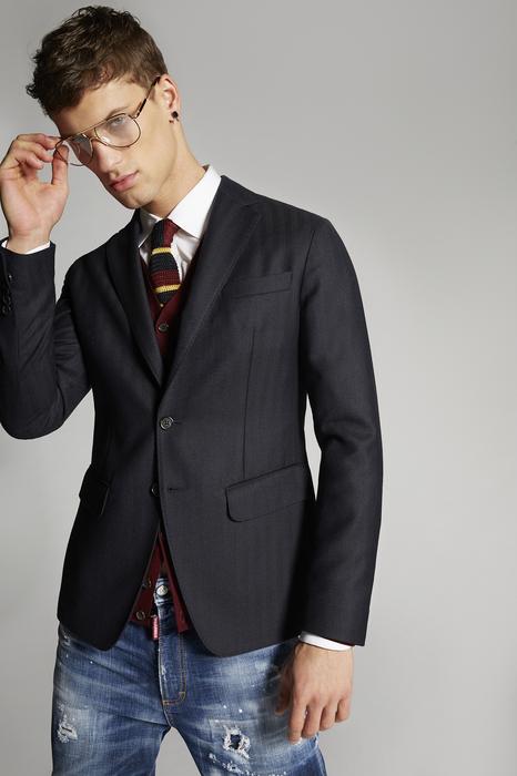DSQUARED2 Men Blazer Dark blue Size 44 100% Wool