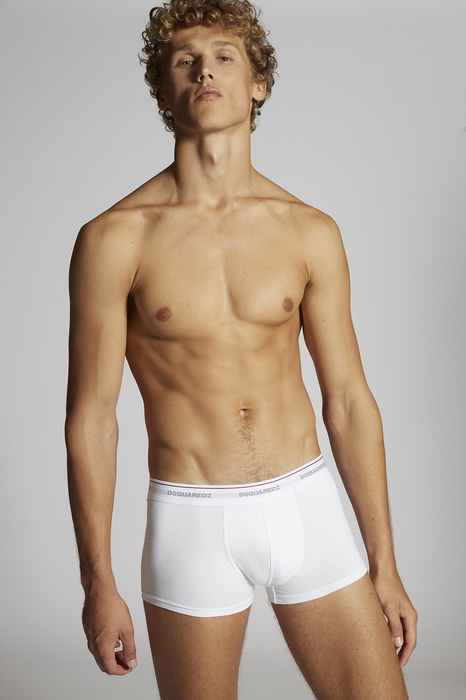DSQUARED2 Men Boxer White Size XL 95% Cotton 5% Elastane