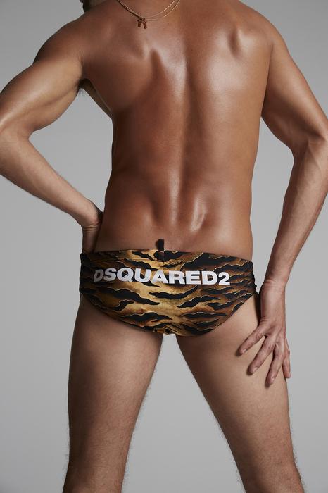 DSQUARED2 Men Brief trunks Brown Size 32 72% Polyamide 28% Elastane