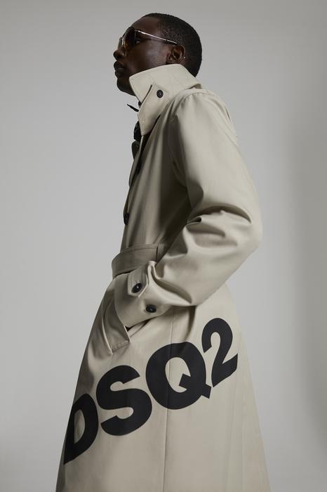 DSQUARED2 Men Coat Beige Size 42 100% Cotton