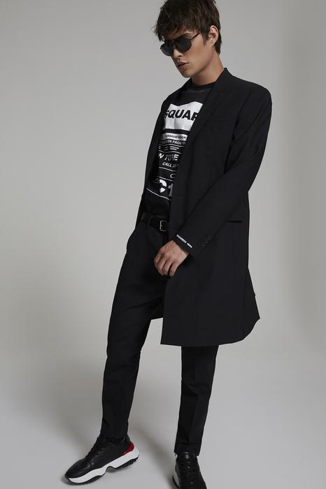 DSQUARED2 Men Coat Black Size 36 95% Virgin Wool 5% Elastane